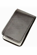 Police Black Leather Duty Memo Book Note Pad Holder Cover Case Sleeve 3x5
