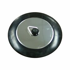 Kinetic Stainless Steel Basin Sink Bath Plug Rubber Black Insert with Chain