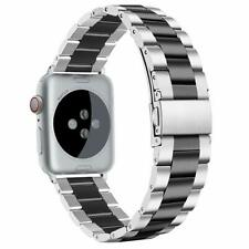 iWatch Band 42mm/44mm XL Large Durable Metal Strap Series 5 4 3 2 1 Silver/Black