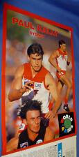 1994 AFL Football Footy Record Rd 11 Brisbane D Geelong Poster Paul KELLY Sydney