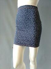 Emily Sharp Festival Body-con Mini Skirt- vintage navy star print. S or L