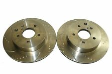 300ZX Skyline R33 2.5 GTS-T Rear Dimpled Grooved Brake Discs
