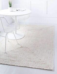 Rug 100% Natural Cotton Braided Rug Handmade Carpet Modern Rustic Look Area Rug