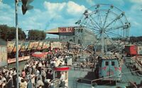 Partial View Midway York Interstate Fair Pa Amusements Ferris Wheel