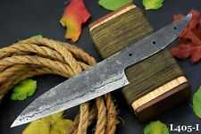 Hand Forged Hammered Damascus Steel Blank Blade Chef Knife Handmade (L405-I)