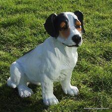 Gartenfigur Hund Jack Russell sitzt 3619 Garten Deko lebensecht Figur Russel