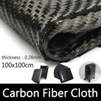 3K Schwarz Carbon-Gewebe Stoff Plain Carbongewebe Kohlefasergewebe 200g 1M*1M