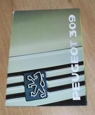 Peugeot 309 FOLLETO 1988-XE XL Ge GL GLX GR GLD GRD SRD Sri 1.9 GTI