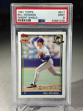 1991 Topps Desert Shield Bill Wegman #617 - PSA 9 - Milwaukee Brewers