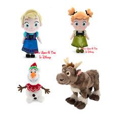 Disney Parks Toddler Elsa & Anna Christmas Olaf Baby Sven Plush Figure Set NEW