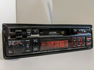 ///Alpine 7292MM Old School Retro Tape Pullout FM/AM Car Radio Changer Controls