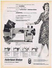 PUBLICITE ADVERTISING 114 1959 GAMMA machine à coudre     Fabrique Union
