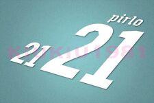Italy Pirlo #21 World Cup 2010 Homekit Nameset Printing