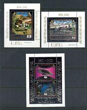 X055    Equatorial Guinea  1974 Centenary of UPU   Silver Foil  sheets  MNH