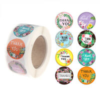 500x/roll flower Thank You Stickers seal labels gift Packaging Stickers YK