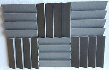 24 pack Acoustic Foam Slanted Tiles   2 x 12 x 12 (charcoal) * FREE SHIPPING