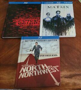North by Northwest SEVEN Matrix 3 Blu-ray Digibooks LOT MINT DISCS Hitchcock