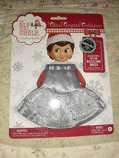 *New* SILVER SPARKLE DAZZLING DRESS Elf on the Shelf Claus Couture Girl Clothes