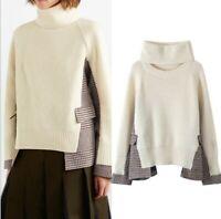 2019-20 Designer Inspired Womens Wool Blended  Detachable Neck Knitwear Jumper