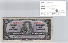 BILLET CANADA - 10 DOLLARS - 2.1.1937