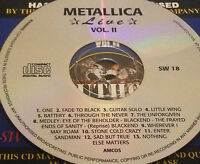 Metallica Live Vol. II CD Super Rare James Hetfield Enter Sandman Sad But True