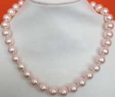 Stunning South Sea Shell Rose Pearl Necklace