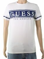 Guess Mens T-Shirt Classic White Size Small S Graphic Logo Tee $34- #523