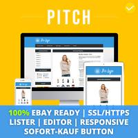 Pitch Blue | ebay Template Verkaufsvorlage Angebotsvorlage Auktionsvorlage HTML