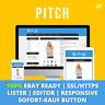 Pitch Blue   ebay Template Verkaufsvorlage Angebotsvorlage Auktionsvorlage HTML