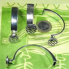 2 Cierres Pulseras Para Cuero 60mm T540A Plata Tibetana Clasps Spange Bracelet