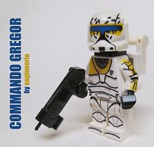 LEGO Custom -- Commando Gregor - Star Wars Clone Wars Trooper Mini figure 75157