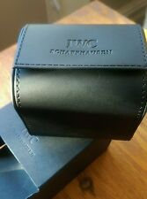 Iwc watch storage /travel box, black faux leather. Gift boxed. Never used