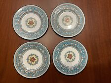 "Set Of 4 Wedgwood Florentine Turquoise Bread & Butter Plates 6"" Fruit Center"
