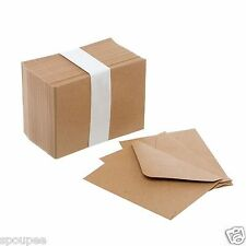 10 MINI KRAFT ENVELOPES SMALL CARDS SEEDS TAGS THANK YOU WEDDING RSVP BROWN SEED