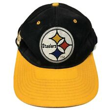 VTG 90s Pittsburgh Steelers Snapback Hat Adult NFL FOOTBALL Black Retro USA