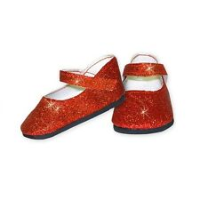"SF Springfield SPARKLY RED FLATS for 18"" American Girl Dolls Oz Shoes NEW"