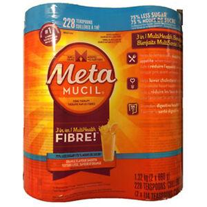 Metamucil Sugar Free Orange Psyllium Fibre, Features: 2 x 114 doses