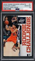 🔥💎2009 Stephen Curry PANINI ROOKIE CHALLENGE SEASON UPDATE RC #1 PSA 10📈BGS