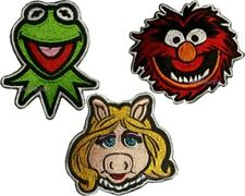 Set Muppets Embroidered Patches Kermit the Frog Miss Piggy Animal Faces Show