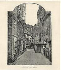 Stampa antica FIRENZE Chiesa di San Michele 1892 Old antique print Florence