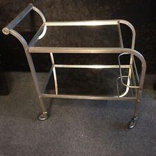 Designer Teewagen Aluminium Dänisch? Bauhaus? Amerika? um 1910-30 stylisch Top