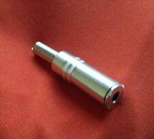 3.5mm 1/8  Stereo Female Audio Chrome plated Quality plug. (1) pcs. Ships USA