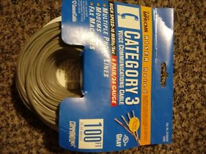 100ft Cat3 Riser Cable Rated MPR/CMR 4 Pair / 24 Gauge