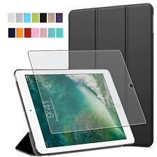 9H Panzerglas Folie+ Tasche Apple iPad 9.7 2017 / 2018 Tablet Schutzhülle Case-3
