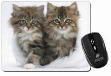 Kittens in White Fur Hat Computer Mouse Mat Christmas Gift Idea, AC-189M