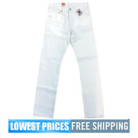 Levi's Men's NWT 501 Original Fit Straight Leg Jeans in White With Free Shipping