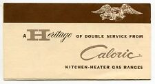 "Old ""CALORIC"" Advertising Brochure: ""Kitchen-Heater Gas Ranges"""