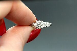 Platinum & Diamond Engagement Ring 1.40 TCW I SI 7.5g. #30090