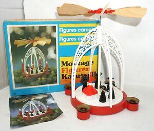 Pyramide Figuren Karussell Kurrende Figurenbaukasten Kamenzer Spielwaren DDR