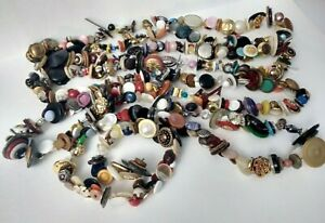 Antique Vintage Buttons 10 feet 5 inch Charmstring Charm String Metals Glass ++